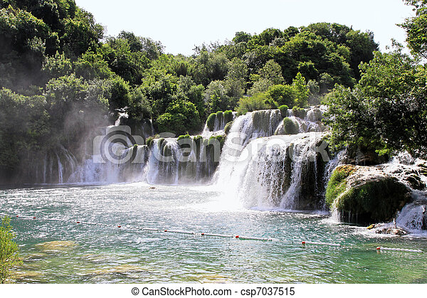 Krka waterfalls - csp7037515