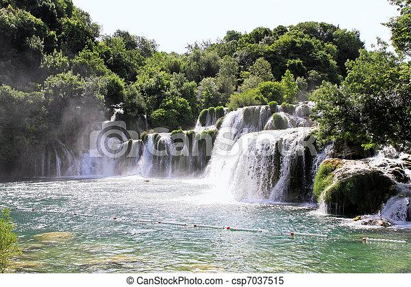 Krka waterfalls - csp7037515