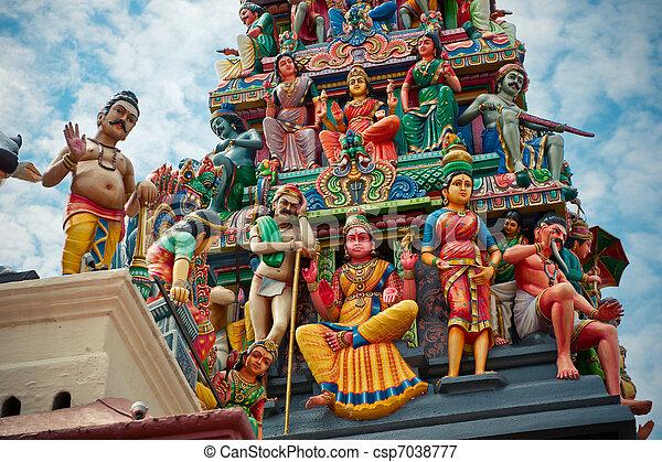 Sri Mariamman Temple, Singapore's oldest Hindu temple - csp7038777