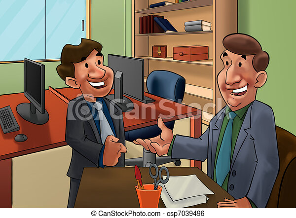 Job Interview Clip Art Instant Download Csp7039496