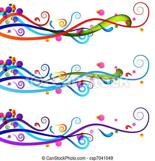 Festive Celebration Banner Set - csp7041049