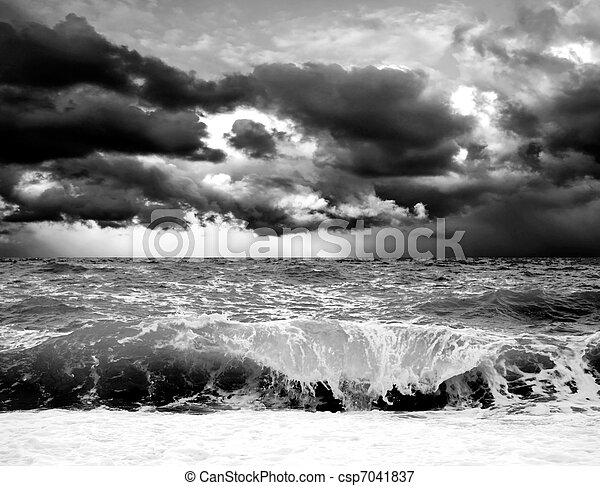 View of storm seascape - csp7041837