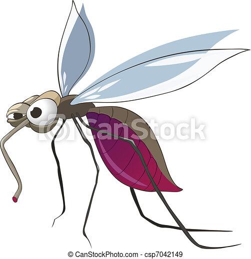 Cartoon Character Mosquito - csp7042149