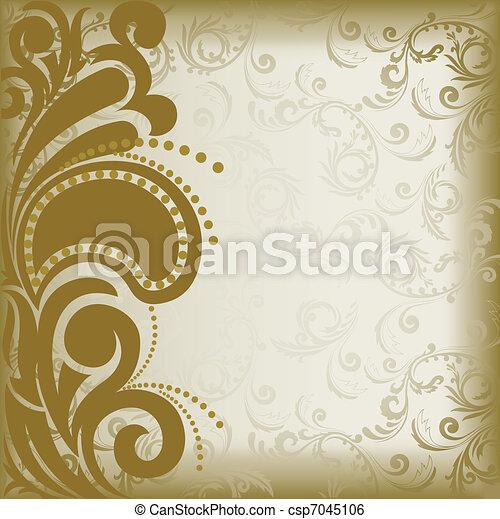 Brown asymmetric background - csp7045106