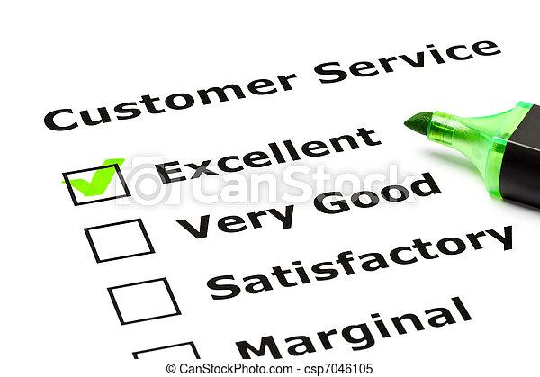 Customer service evaluation form - csp7046105