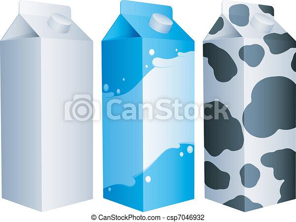 Milk packs. - csp7046932