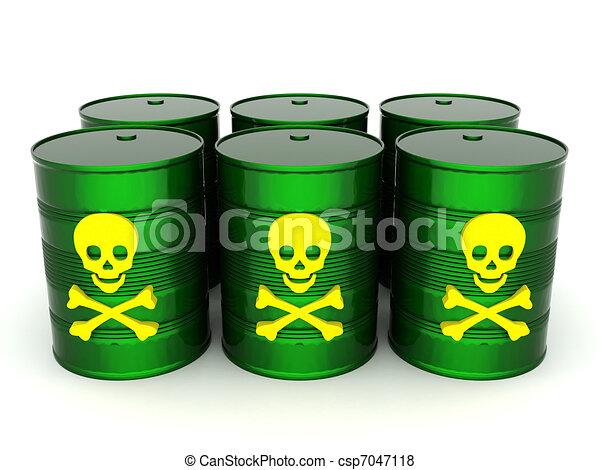 Stock Illustration of Toxic waste barrel - iron barrel with toxic ...