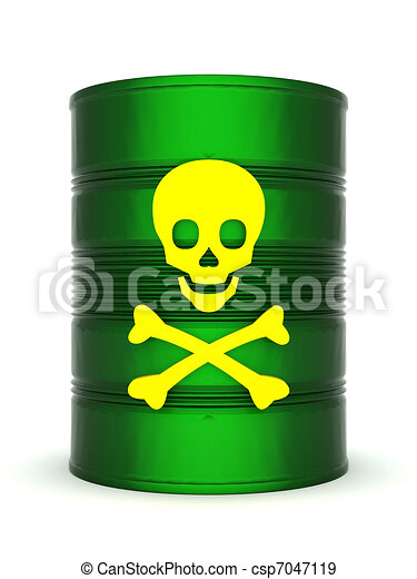 Stock Illustration of Toxic waste barrel - iron barrel ...