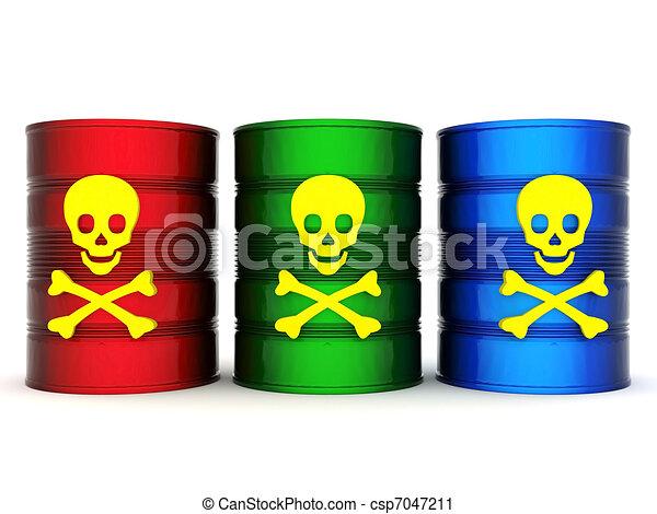Toxic waste barrel - csp7047211