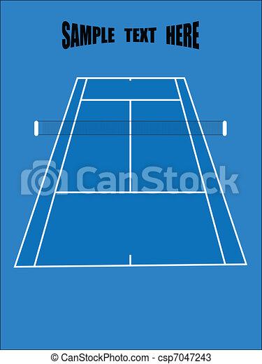 tennis ground - csp7047243