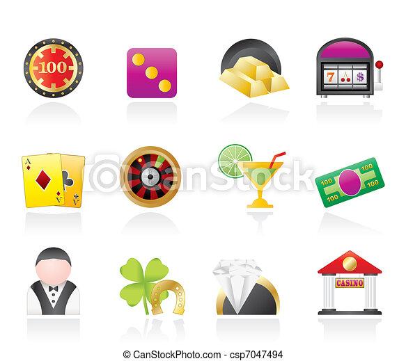 casino and gambling icons  - csp7047494