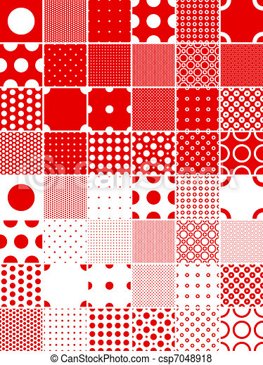 polka dot patterns - csp7048918