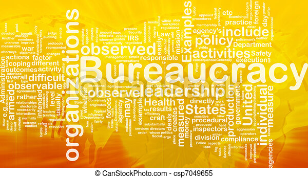 Bureaucracy background concept - csp7049655