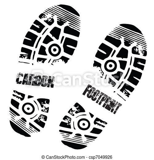 carbon foot print shoe - csp7049926