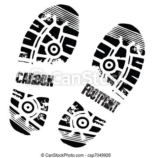 carbon foot print shoe - csp7049926