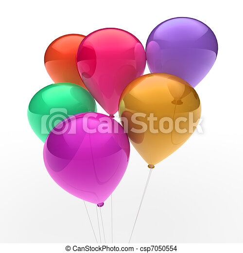 3d ballon colorful - csp7050554