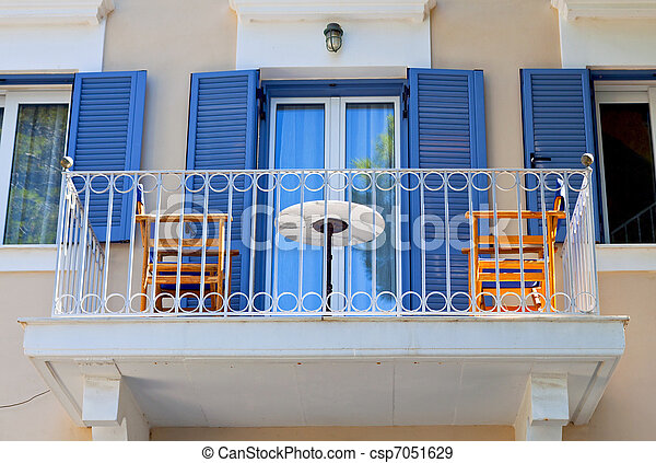Traditional house at Kefalonia Greece - csp7051629