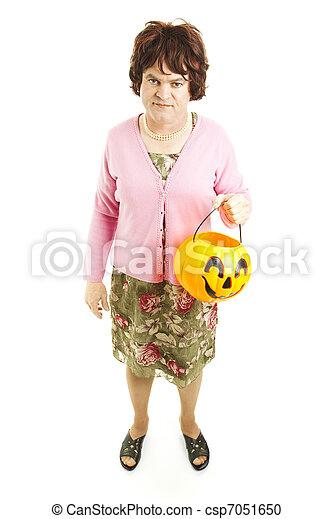 Embarrassed Dad on Halloween - csp7051650