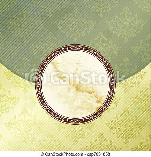 Green Victorian vintage emblem - csp7051858