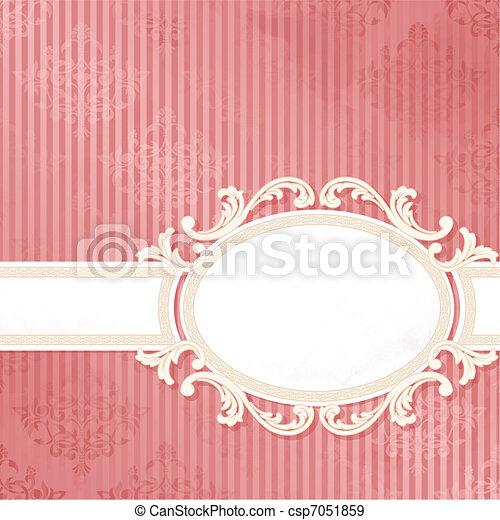 Antique pink wedding banner - csp7051859