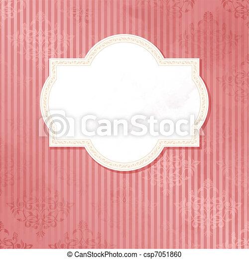 Antique pink wedding label - csp7051860