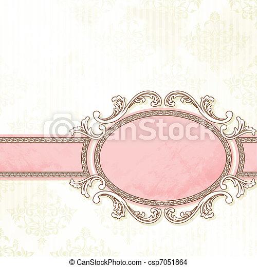 Antique white wedding banner - csp7051864
