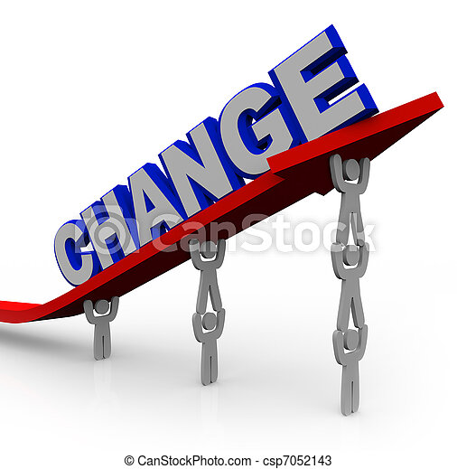 Team Lifts Word Change to Transform and Succeed - csp7052143