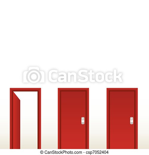 Open red door. Exit, solution - csp7052404