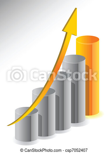 business growth illustration design - csp7052407