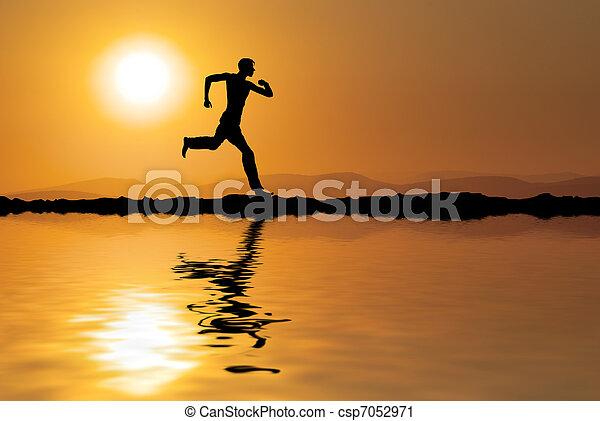 Man run - csp7052971