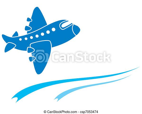 Blue aeroplane - csp7053474