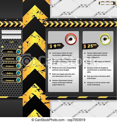 Industrial website design - csp7053919