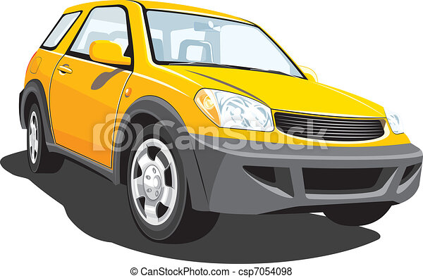 Yellow suv - csp7054098