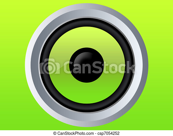 Green speaker isolated - csp7054252
