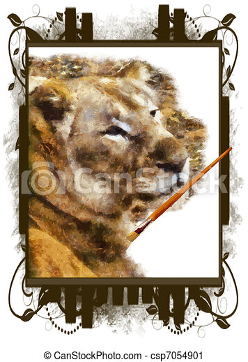 Painting Nature Vector - csp7054901