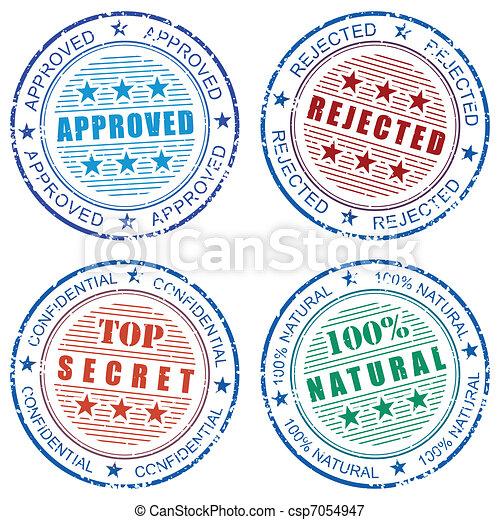 Set of grunge vector stamp prints - csp7054947