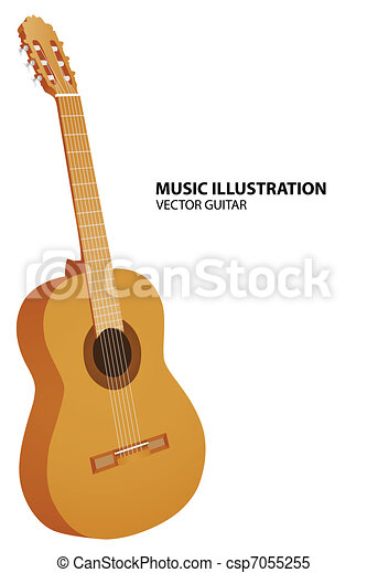 Vector guitar - csp7055255