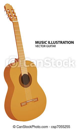 Vector guitar - csp7055255