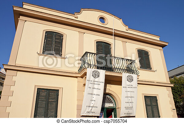 Traditional Greek House stock photographs of traditional greek house at koroni