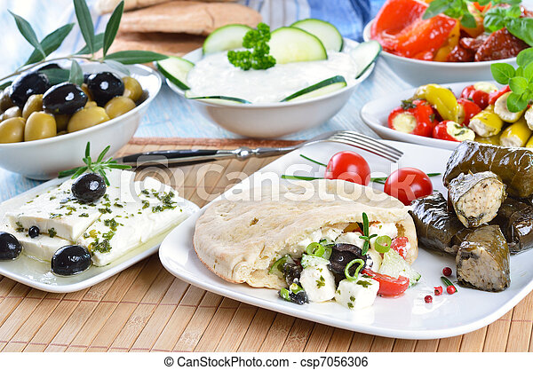 Greek appetizers - csp7056306