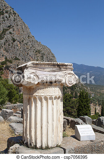 Single ionic order capital at Delphi - csp7056395