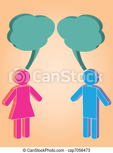man and woman in conversation - csp7056473