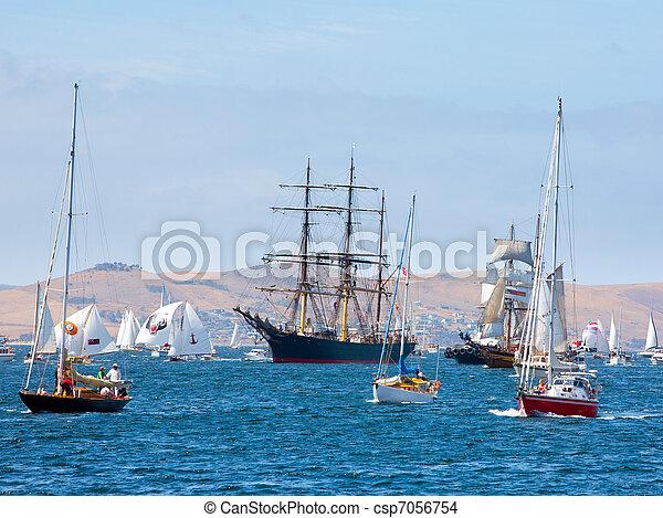 Australian Wooden Boat Festival at Hobart, Tasmania Australia - csp7056754
