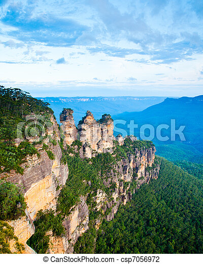 The Three Sisters From Echo Point, Blue Mountains National Park, NSW, Australia - csp7056972