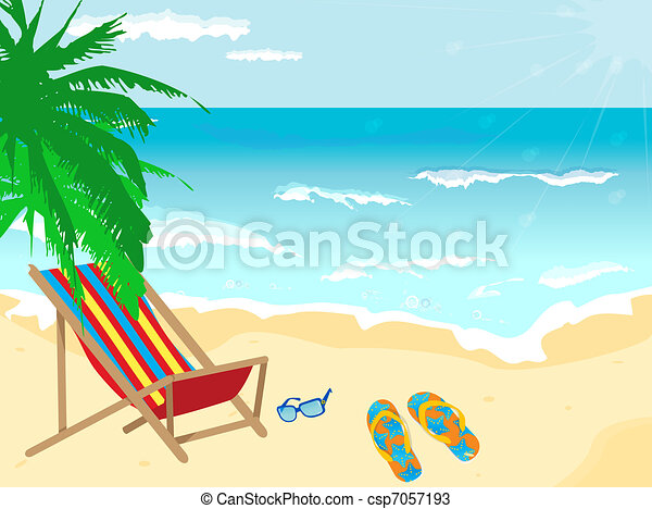 Beach background  - csp7057193