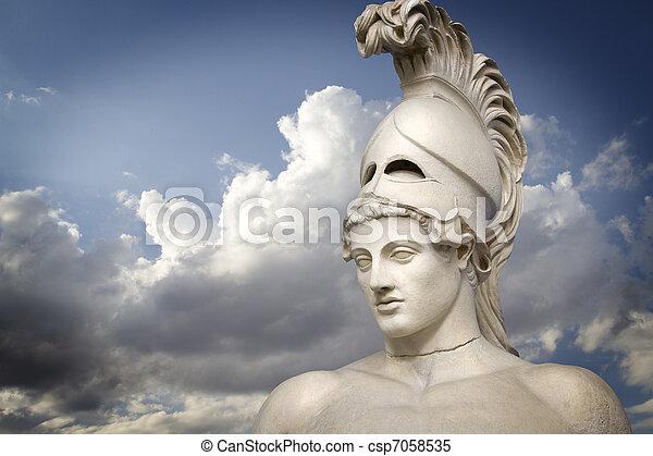 griego, Escultura, de, el,  general,  Pericles, griego, arte - csp7058535