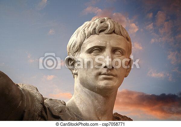 Sculpture of the Emperor Trajano of Rome - csp7058771