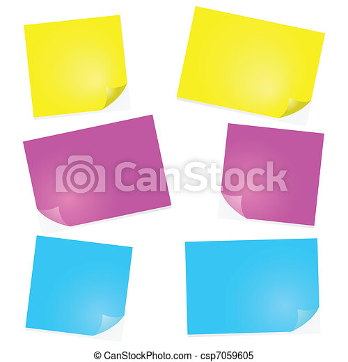 Post-it notes - csp7059605