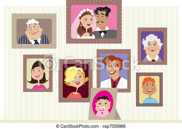 Family portraits - csp7059966