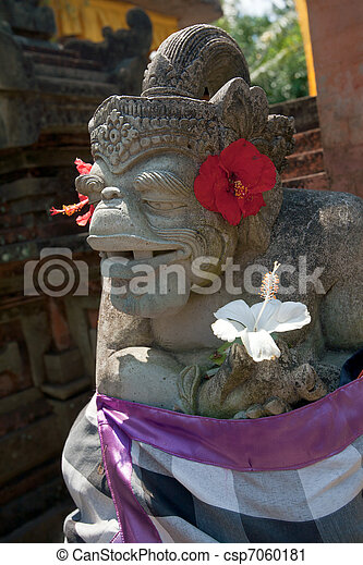 Demon statue, Ubud, Bali, Indonesia - csp7060181